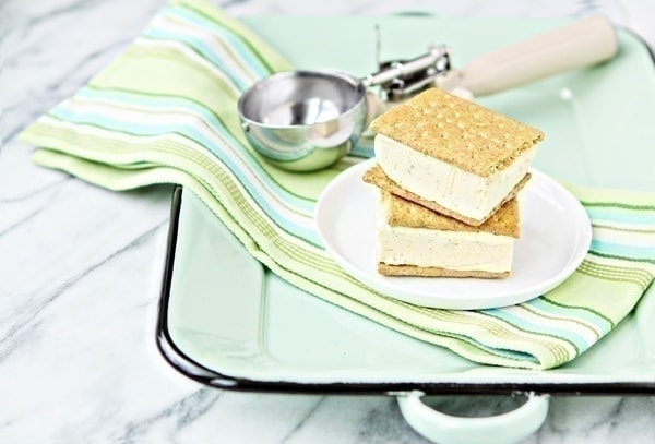 4 Ingredient Key Lime Pie Ice Cream Sandwiches