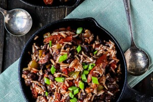 Black Beans and Rice with Smoked Sausage