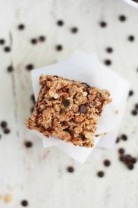 Cherry Chocolate Chip Granola Bars (GF, Vegan)