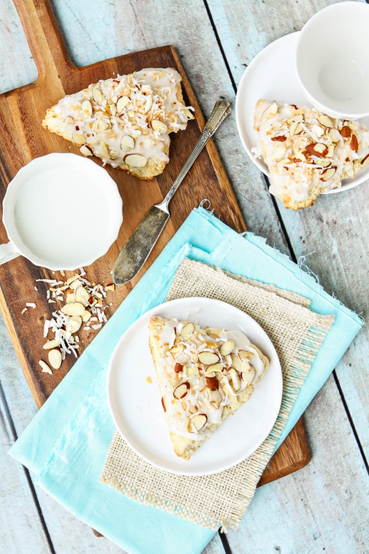 toasted almond coconut scone recipe
