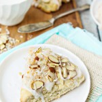 toasted almond coconut scones