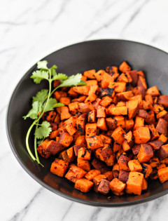 Foil Grilled Southwestern Sweet Potatoes