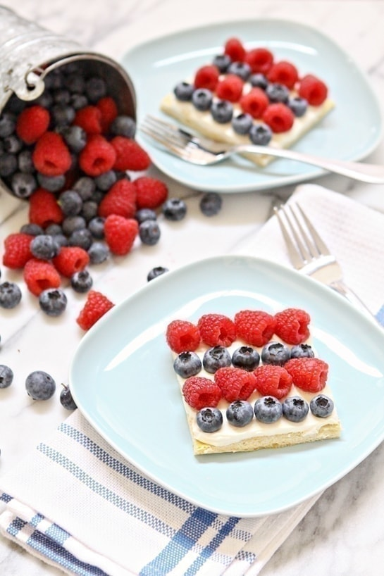 Red White and Blue Berry Dessert Bites
