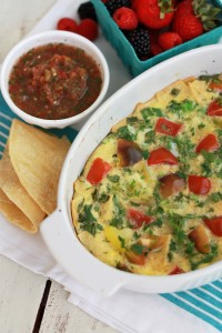 Easy Migas Bake - A simple, gluten free breakfast or dinner for the whole family.