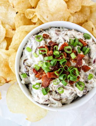 Caramelized Onion Bacon Blue Cheese Dip - How to Make Homemade Onion Dip - Super Bowl Appetizers and Dip