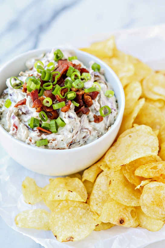 Caramelized Onion Bacon Blue Cheese Dip and a bag of Cape Cod® Potato ...