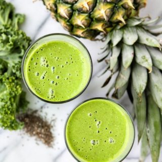 Kale Pineapple Coconut Smoothie