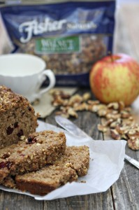 Cinnamon Applesauce Bread with Walnuts