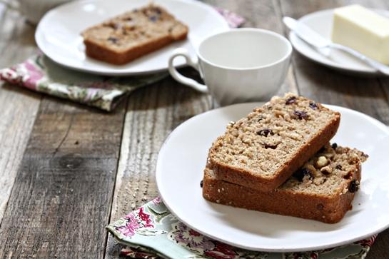 Cinnamon Applesauce Bread with Walnuts