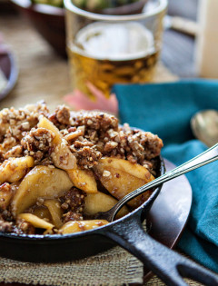 Browned Butter Bourbon Apple Crisp