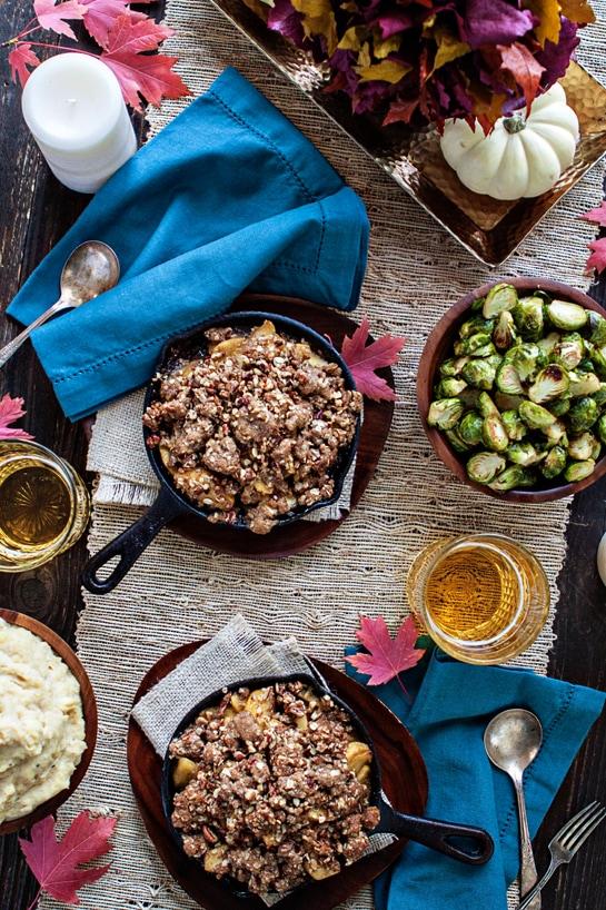 Browned Butter Bourbon Apple Crisp - Hassle-Free Thanksgiving Tips