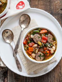 Italian Sausage Orzo Soup recipe