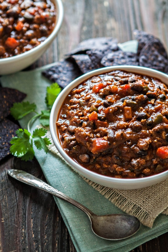 Pumpkin Black Bean Turkey Chili Recipe + Tips on How NOT to Make Chili