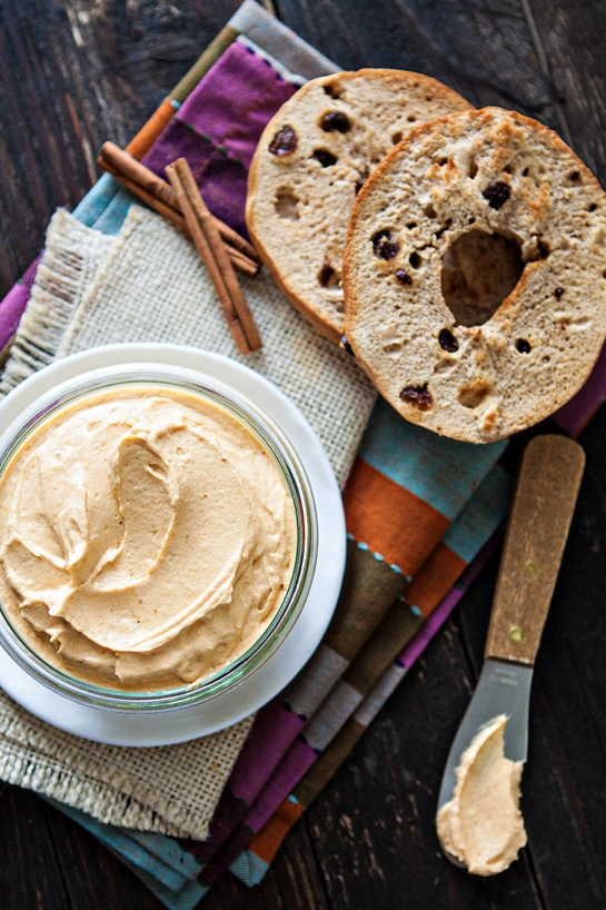 Whipped Pumpkin Cream Cheese (and 8 Ways to Use Leftover Pumpkin)