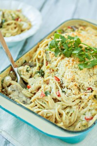 Green Chile Turkey Tetrazzini - Leftover Turkey Recipe
