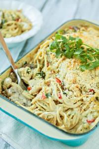 Green Chile Turkey Tetrazzini - Leftover Turkey Recipe