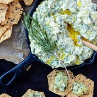 Rosemary White Bean Artichoke Spinach Dip