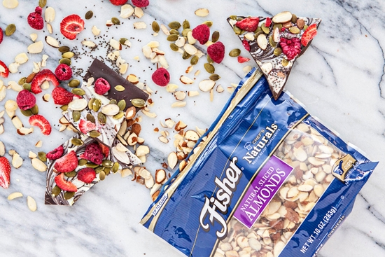 Bittersweet Chocolate Swirl Fruit and Nut Bark - Super Foods Bark for Homemade Holiday Gifting