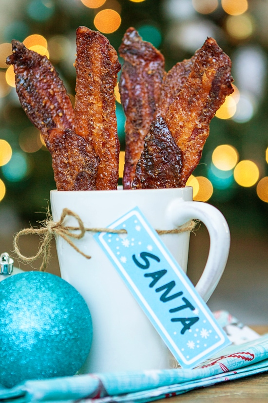 Black Pepper Candied Bacon for Santa