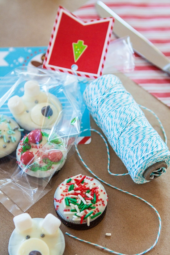 cookie party wrapping station