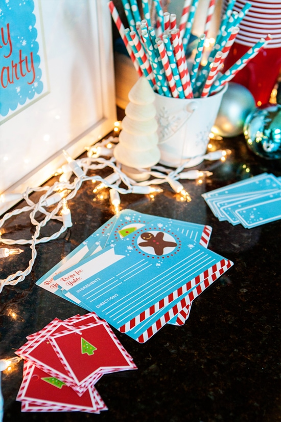 cookie party gift wrapping station
