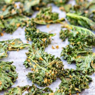 Easy cheesy kale chips recipe good life eats ingredients forumfinder Image collections