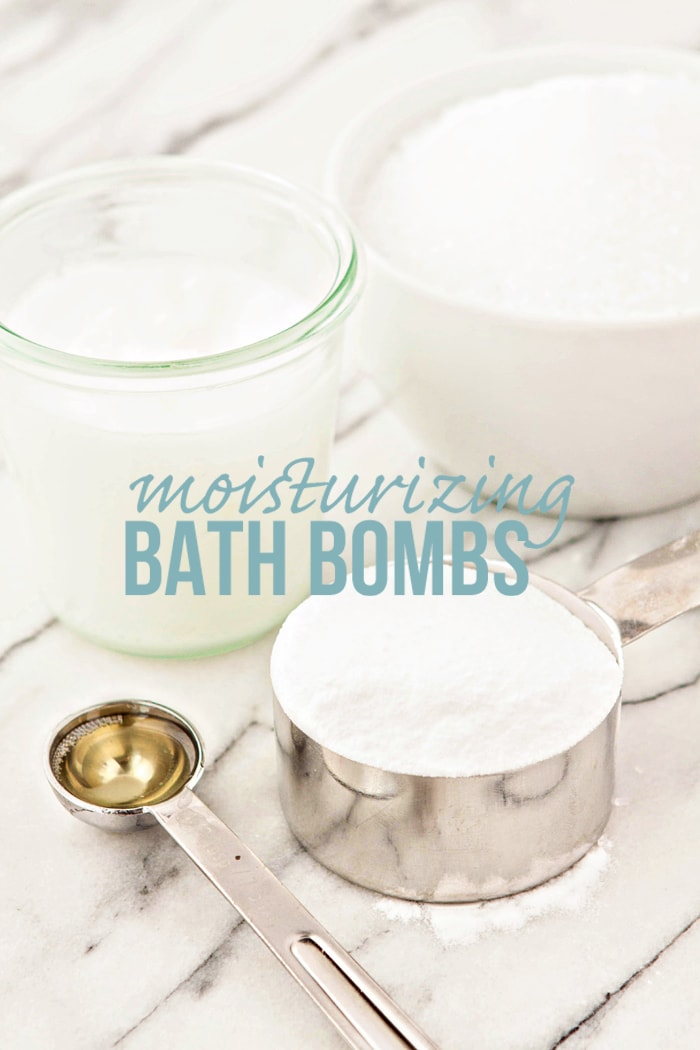 DIY bath bombs ingredients on marble countertop