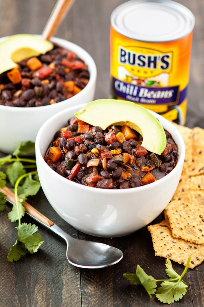 Roasted Butternut Squash Black Bean Chili - Hearty, Meatless Chili Recipe