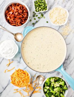 Easy Loaded Baked Potato Soup Bar