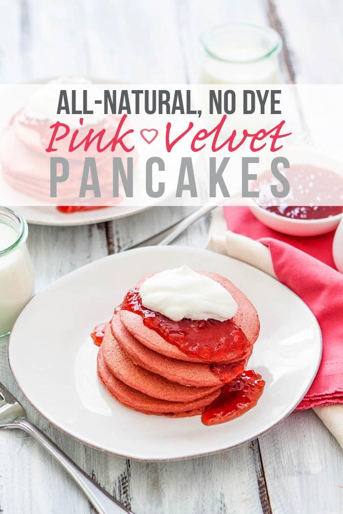 Easy Pink Velvet Pancakes