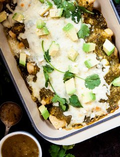 Chorizo Spinach Breakfast Enchiladas