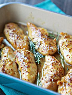 Easy Honey Mustard Baked Chicken