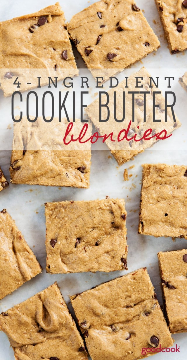 4 Ingredient Cookie Butter Blondies Recipe
