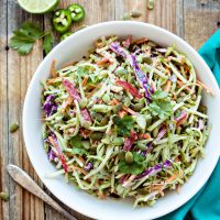 Cilantro Lime Broccoli Slaw