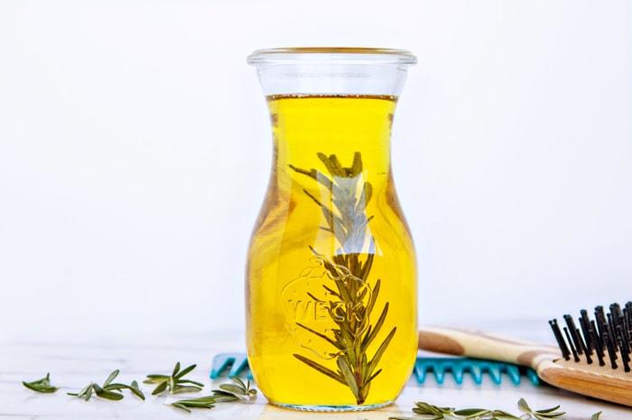 DIY Rosemary Hot Oil Hair Treatment