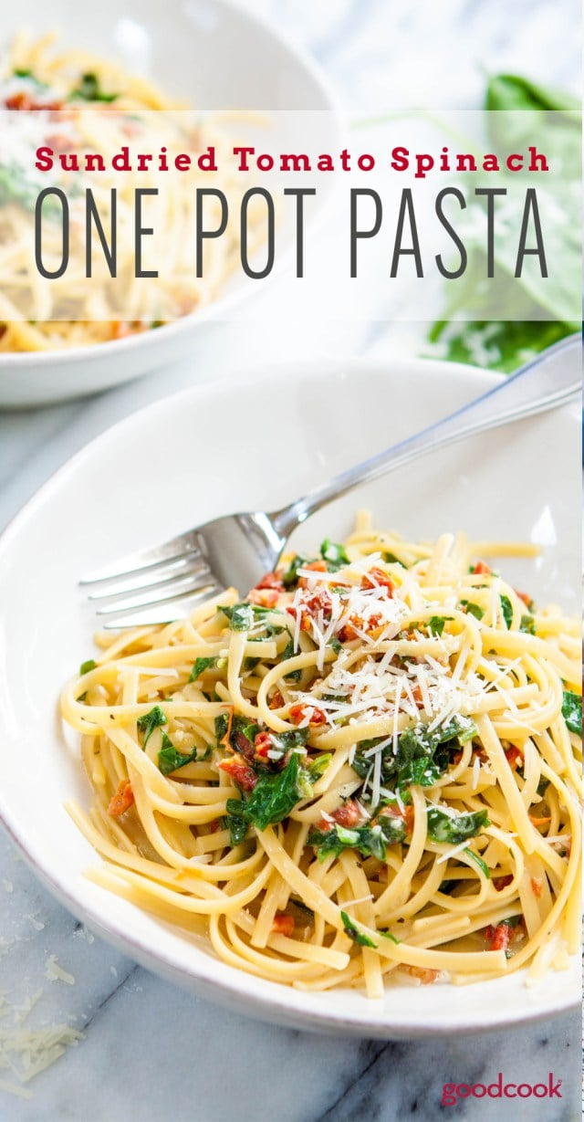 One Pot Pasta: Sundried Tomato Spinach