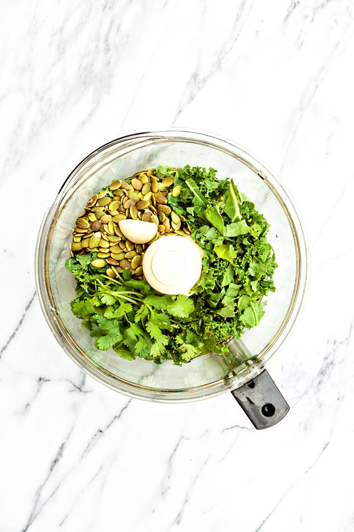 Kale Cilantro Pesto - 6 Ways to Use Pesto (Besides Pasta)