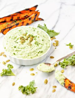 Kale Cilantro Pesto Yogurt Dip