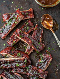 Mango Habanero BBQ Sauce Pork Ribs recipe