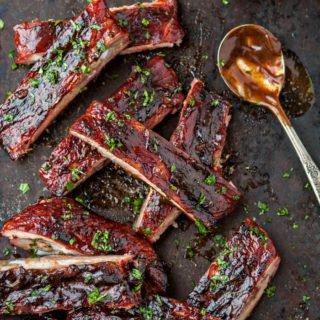 Mango Habanero BBQ Sauce Pork Ribs recipe