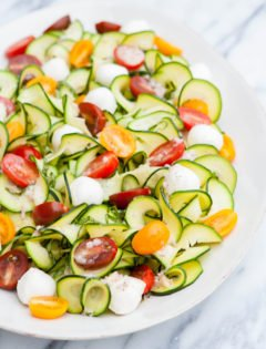 Zucchini Tomato Basil Salad with Lemon Basil Vinaigrette