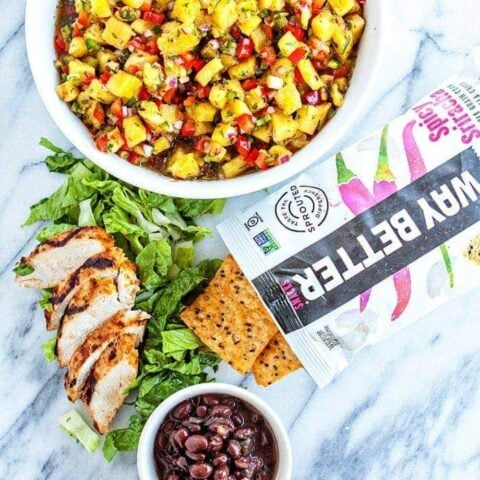 Grilled Lime Cilantro Chicken Walking Tacos