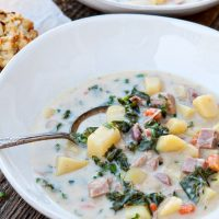Slow Cooker Ham Soup with Potatoes and Kale