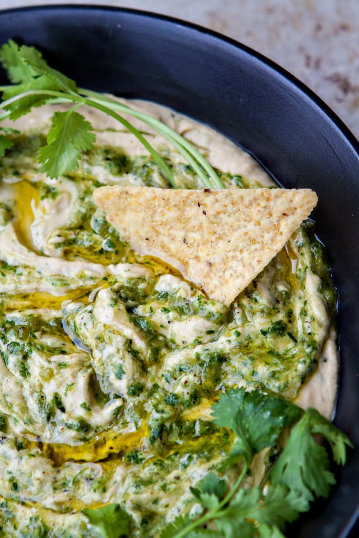 Roasted Salsa Verde Hummus