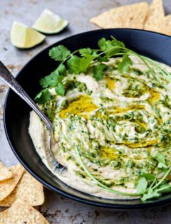 Roasted Salsa Verde Hummus Recipe