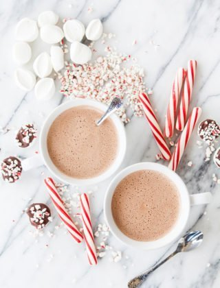 Spiked Peppermint Mocha Hot Chocolate
