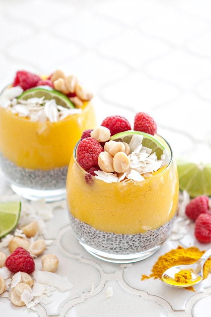 coconut chia pudding parfaits