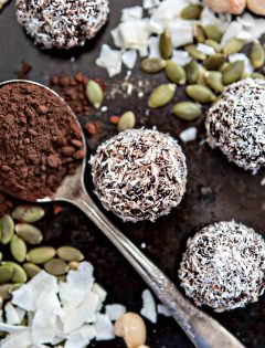 Chocolate Coconut Macadamia Energy Balls