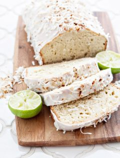 Coconut Lime Banana Bread with Lime Glaze
