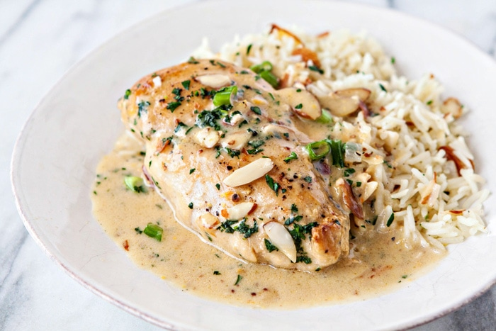 Creamy Orange Almond Chicken and Rice